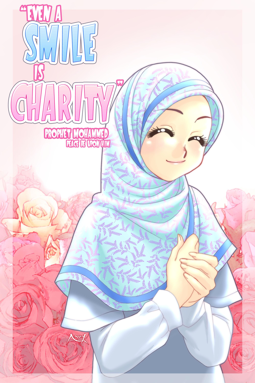 Foto Kartun Muslimah Jatuh Cinta Kantor Meme